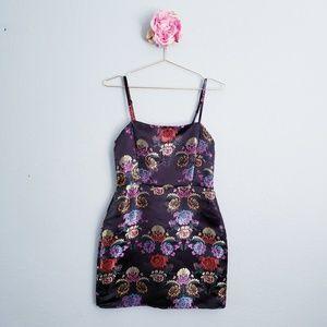 Zara Strappy Floral Embellished Mini Dress